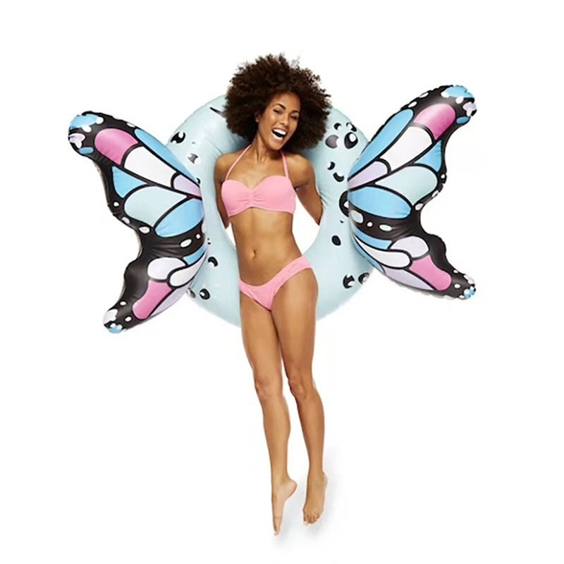 Cartoon Butterfly Creative Inflatable Floats Adult Red Thickening PVC ECO Friendly Swimming Ring Portable Anti Wear Factory Direct 37hqI1