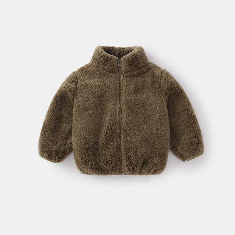 COOTELILI Fashion Fur Velvet Girls Boys Jacket Baby Girls Coat Fleece Warm Kids Jacket Snowsuit Baby Girl Hooded Outerwear (8)