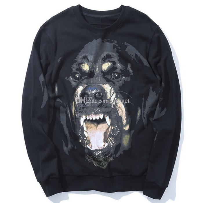 Fleece Rottweiler Hoodie For Men's Warm Cotton Sports Casual Fashion Sweat Jumper Man 2019 F/W Dog Sweatshirt