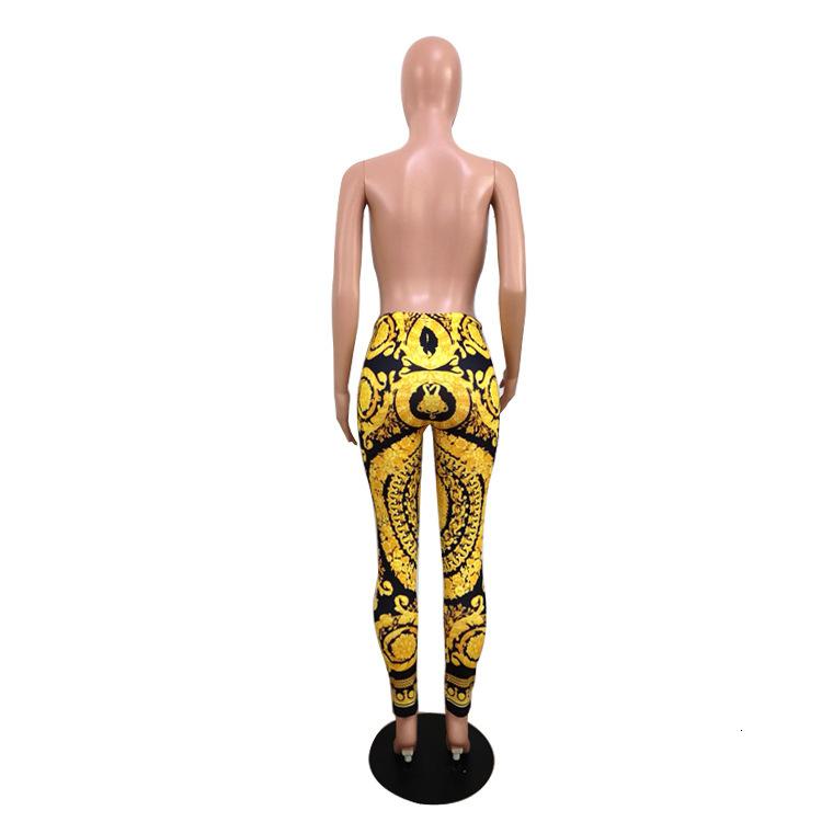 Vintage Women Leggings Luxury Pattern Printing Pants Skin Tight Jogging Pants High Fashion Night Out Clothes Free Shipping1
