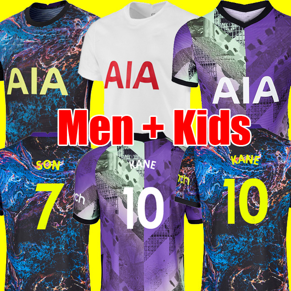 21 22 KANE SON BALE ROMERO BERGWIJN TOTTENHAM Soccer Jersey 2021 2022 LUCAS DELE Football kit shirt NDOMBELE tops kids sets uniform thailand quality