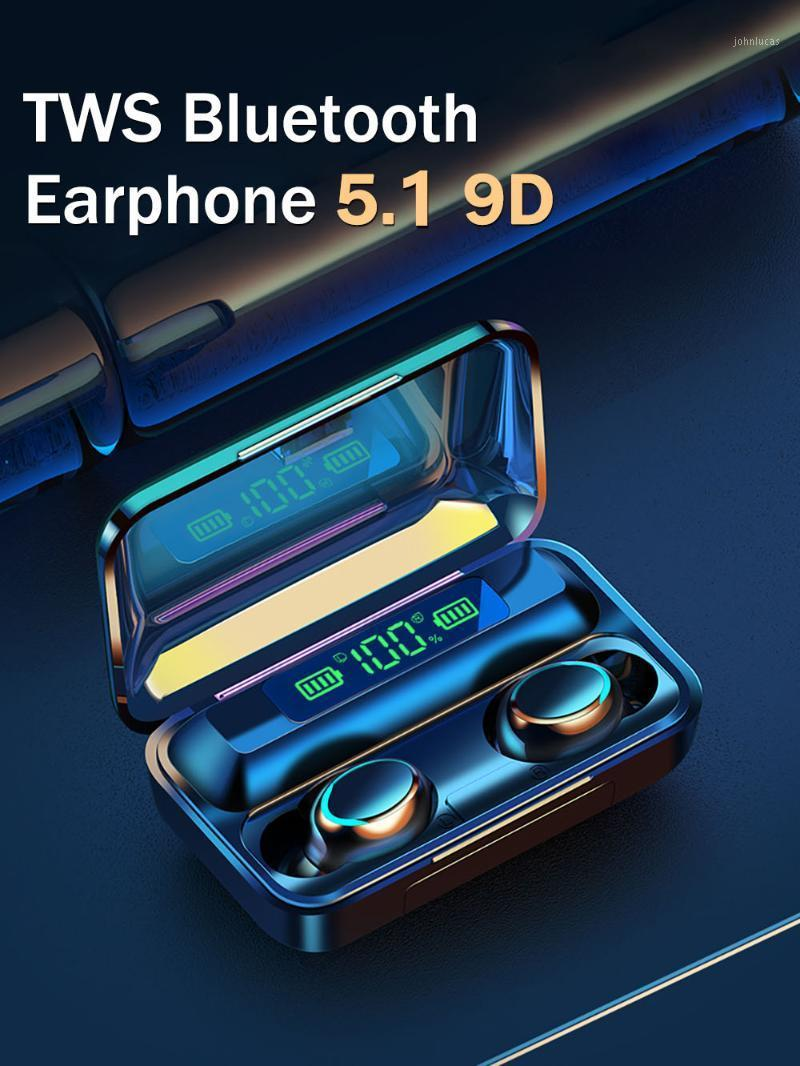 Ecouteur Bluetooth Sans Fil TWS 5.1 Earphones Charging Box Wireless Headphone 9D Stereo Sports Headsets With Microphon1