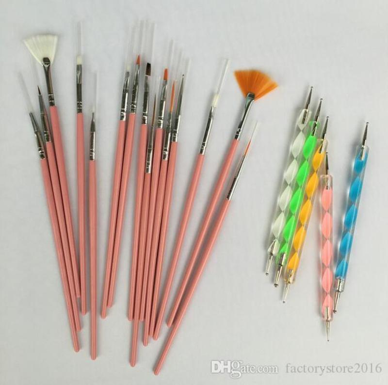 Nail Art Design Brushes Kit Brand New Nail Gel Polish Art Styling Acrylic Brush Set Nail Art Salon Painting Dotting Pen Tools