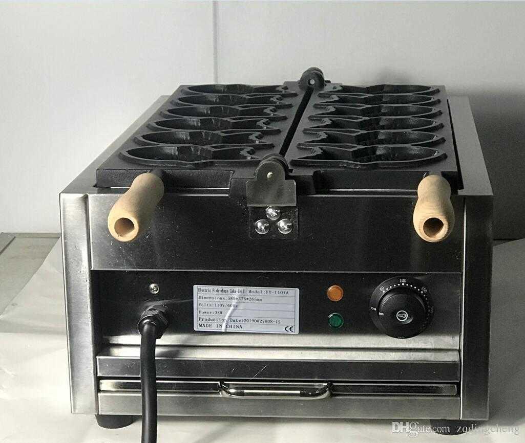 Electric 110v 220v Taiyaki Waffle grill fish shape waffle maker