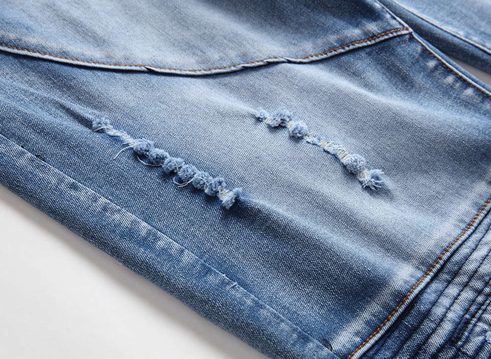 2021 New Mens Jeans High Quality Skinny Blue Jeans Pants for Man Slimfit Ripped Denim Pants 38 42