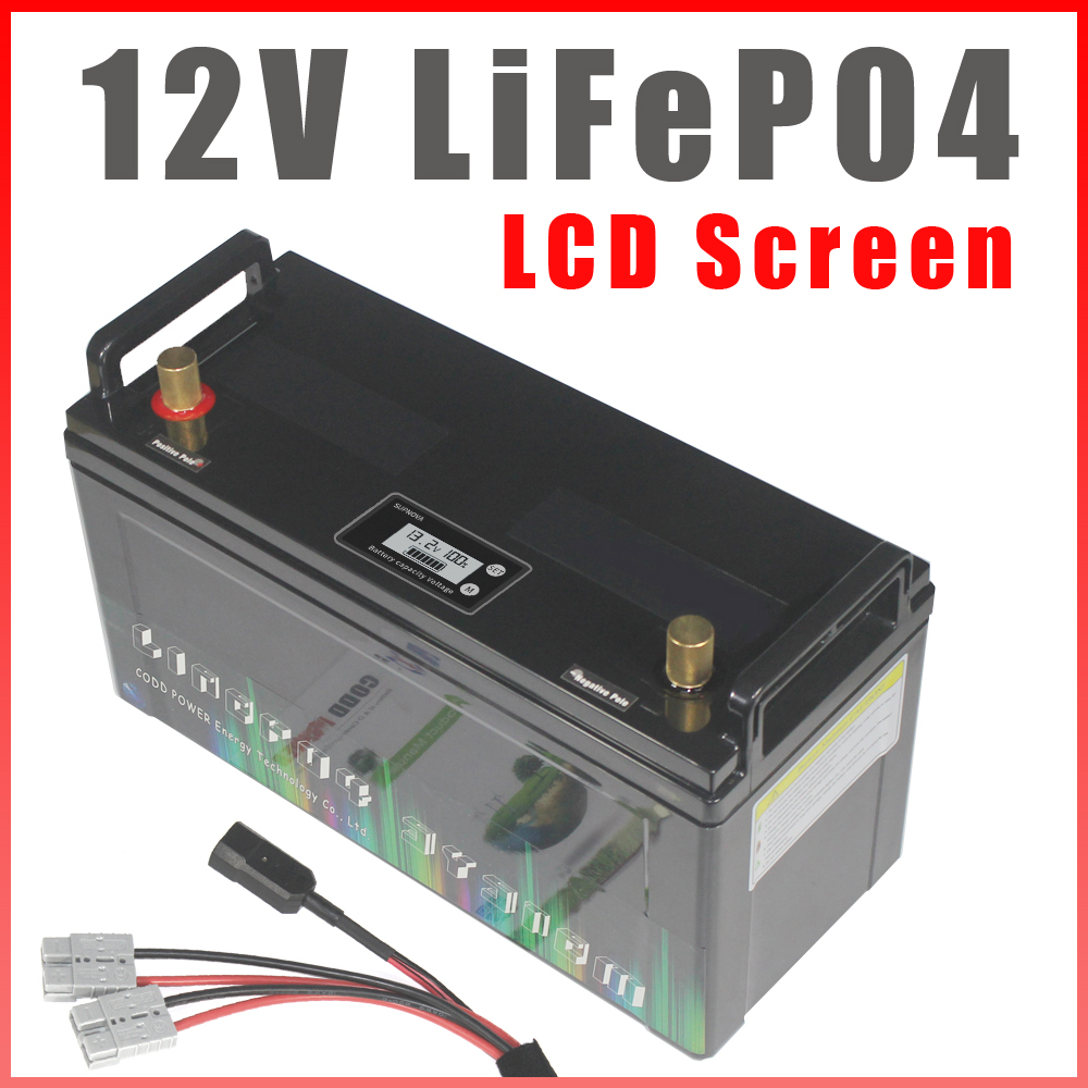 12V LiFePO4 Battery 200Ah RV Campers IP68 Waterproof Golf Cart Batteries 3000 Cycles Off-Road Off-grid Solar energy With BMS