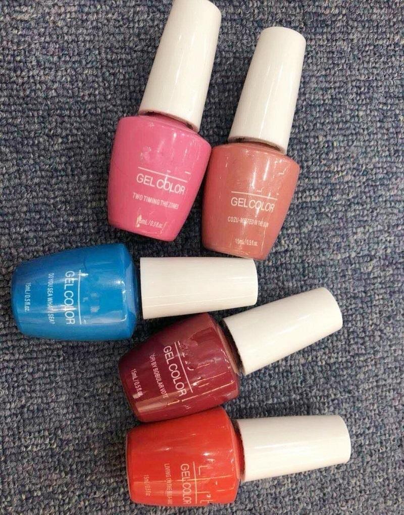5pcs 15ml Gelcolor Soak Off UV Gel Nail Polish 108 color nail shop nail polish adhesive durable removable phototherapy Bobbi glue by beauty1024