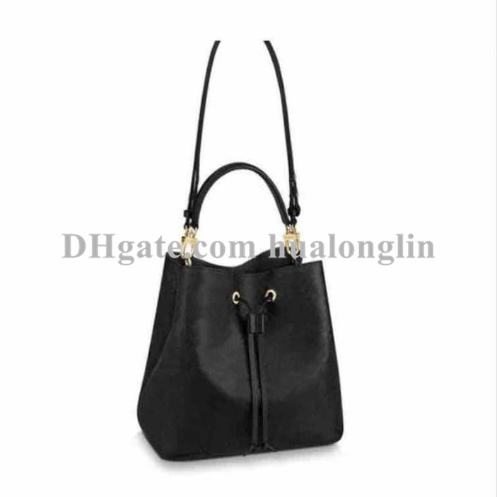 Woman Handbag women Shoulder Bag Purse high quality flower date code serial number cross body bucket tote embossed patterns