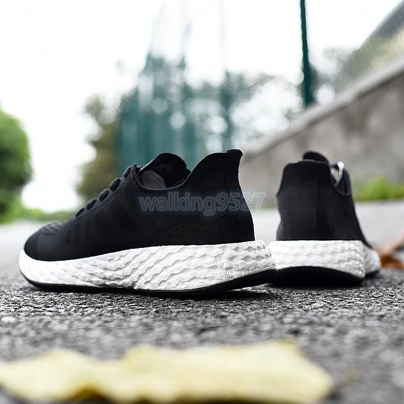 2021 high quality new treeperi Basf runner 711 V2 black white running shoes US 9.5 EUR 43 or men women sneakers