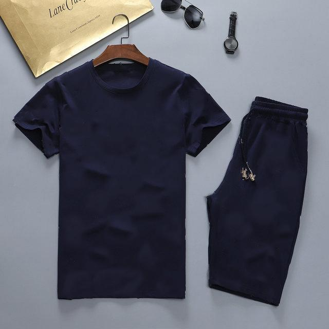 tracksuits 2-piece short-sleeved shirt and pants suit 2021 luxury printed letters summer fashion sportswear men's clothing