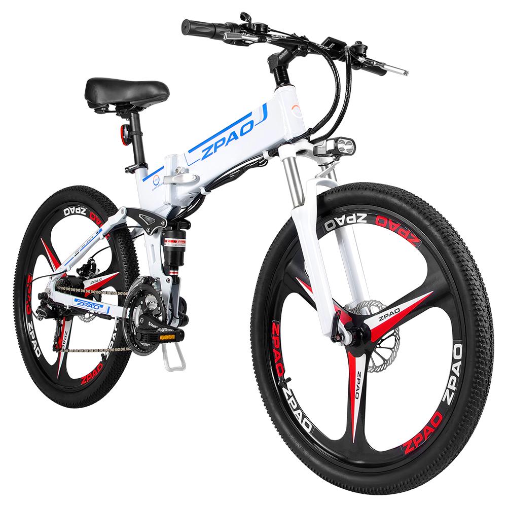 ZPAO Snow Bike Electric Bicycle Electric Bike Beach Electric Mountain Bike 48v Lithium Battery Folding
