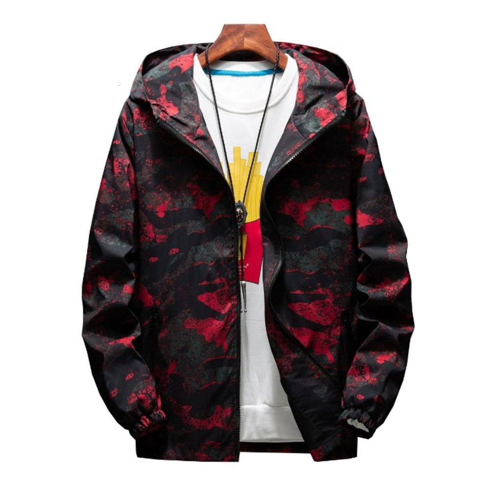 Mens Casual Camouflage Hoodie Jackets Autumn Printing Hooded Hoodie Thin Jacket Coat Men's Streetwear chaqueta hombre