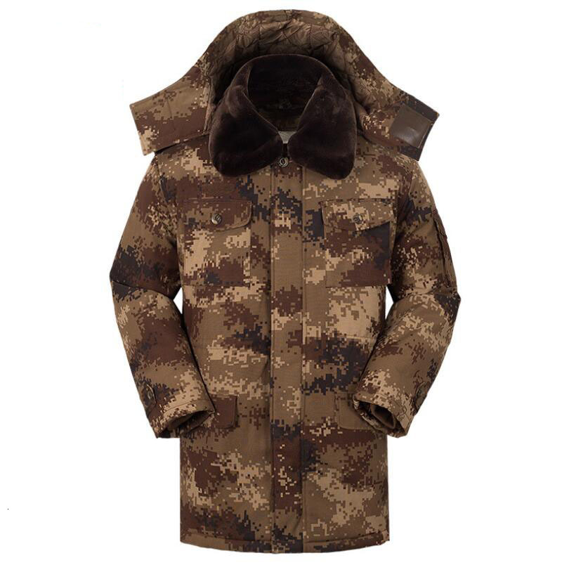 New Men Winter Warm Jackets Cotton Camouflage Removable Tactical Overcoat Men's Casual Male Jacket Thicken Coats
