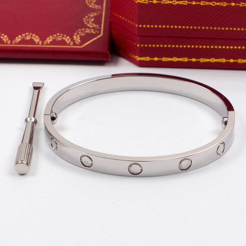 Brand Love screw Bangles 316L Titanium steel Luxury cz stone screwdriver carter bracelets for women men love bracelets with original bag