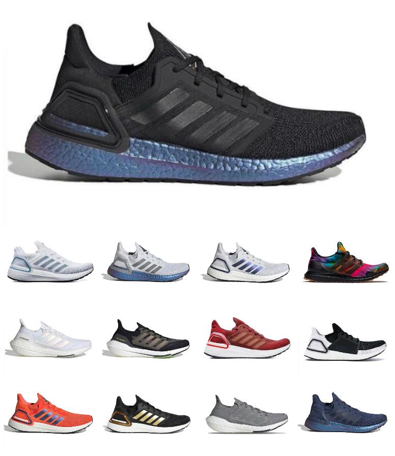 Top Quality Ultraboost 21 UB 6.0 2021 Running Shoes Solar Yellow Pink Triple Core Black Halo Silver Sashiko Jogging Walking Men Women Scarpe Tenis Trainer Sneakers
