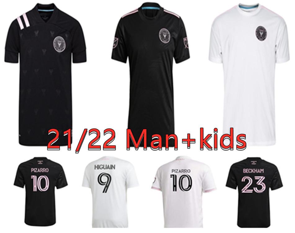 Fans Version 2021 Inter Miami Soccer Jersey BECKHAM MATUIDI HIGUAIN football jerseyS TRAPP PELLEGRINI PIZARRO MAN+ Kids Footbal Shirts
