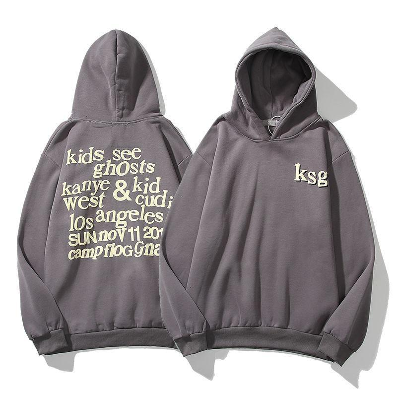 Kanye2021 European and American trend printed sweater men's and women's lovers Gothic English letter Pullover Hoodie