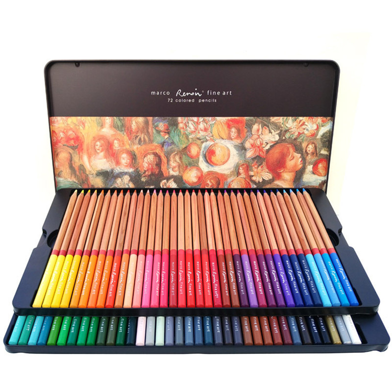 Marco Renoir 24/36/48/72/Pencil Set Painting Pens with boxes profesionales Crayons Colouring Drawing Pencils Set Wholesale