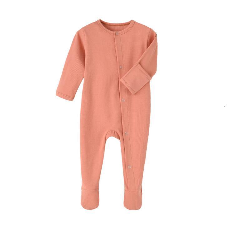 Kids Designer Clothes Boys Solid Jumpsuits Newborn Long Sleeve Onesies Infant Rompers Footies Girls Toddler Vêtement Bébé Outfits LSK51
