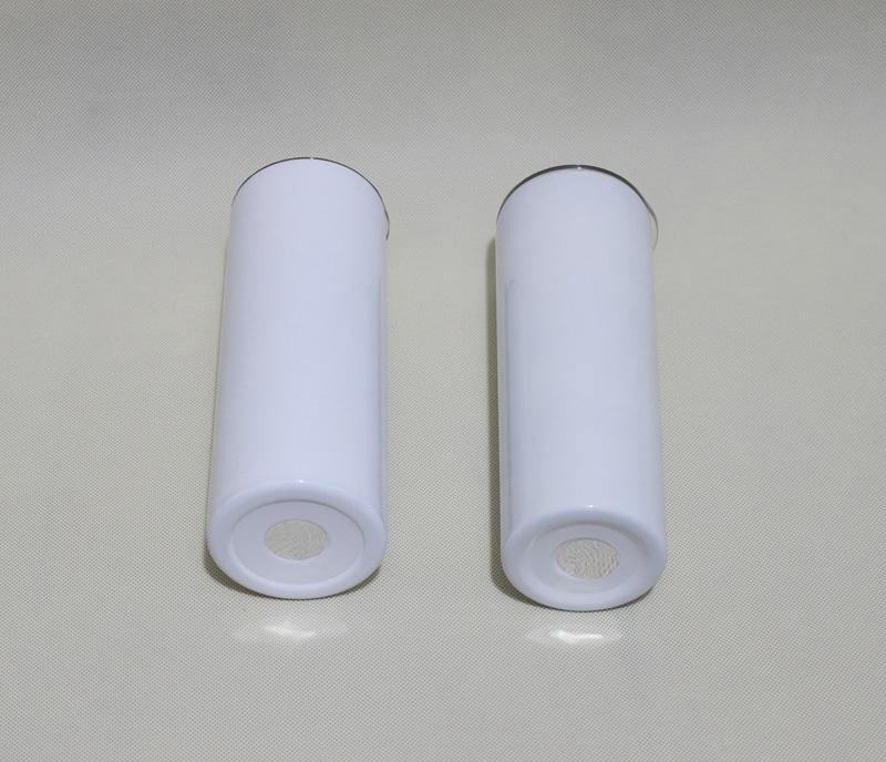 20oz sublimation straight skinny tumblers blanks white Stainless Steel Vacuum Insulated tapered Slim DIY 20 oz Cup Car Coffee Mugs and Straw