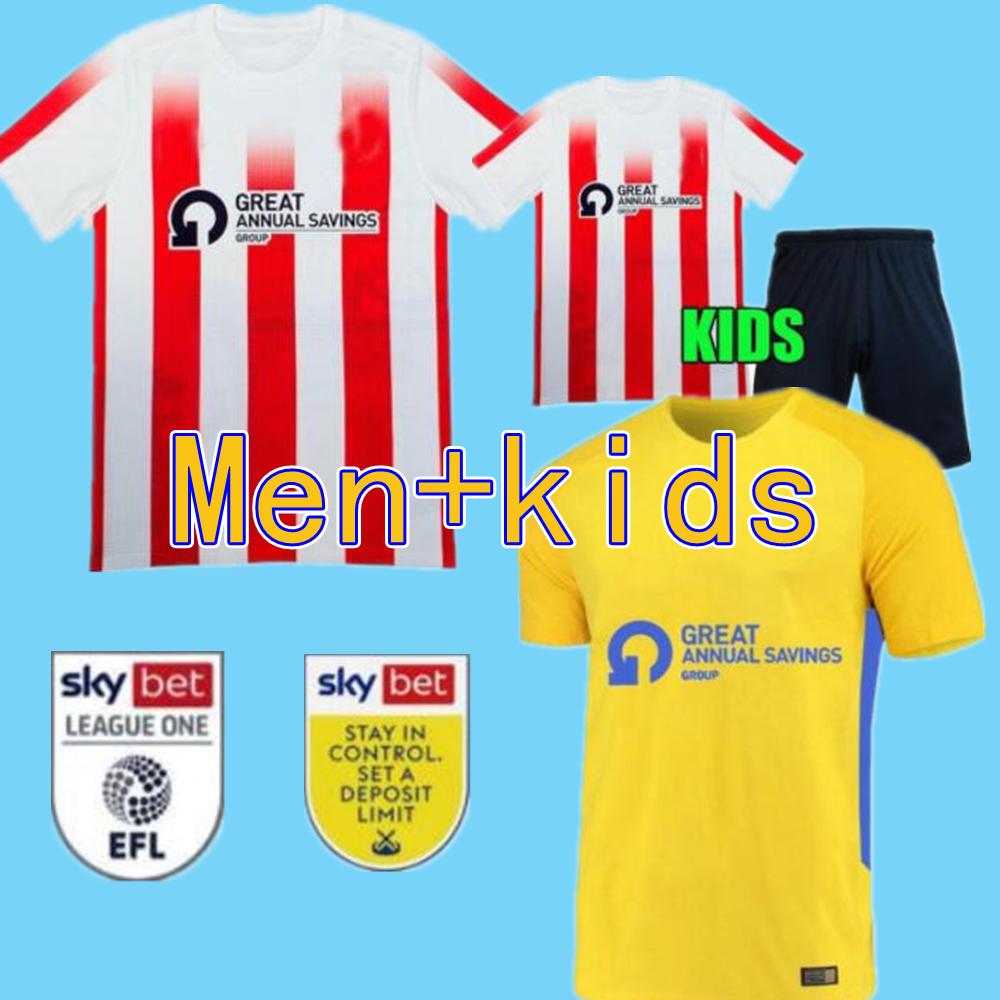 SUNDERLAND 21 22 soccer Jerseys home away Gooch Pritchard Evans Grigg Arbenit Xhemajli O'Brien Wright Stewart McGeady Camisetas 2021 2022 Me