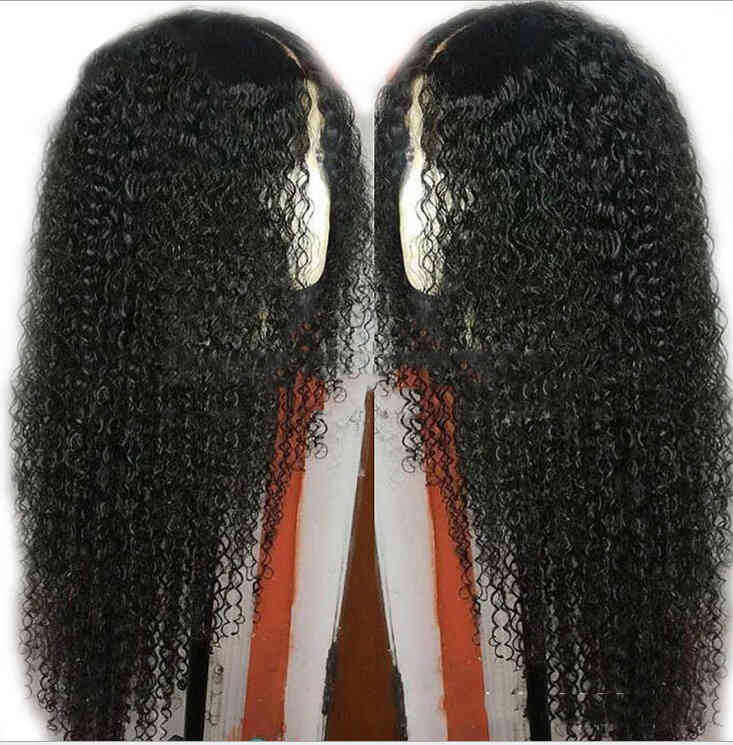 Wig human hair 18inch full head set long volume Europe and the United States wigs