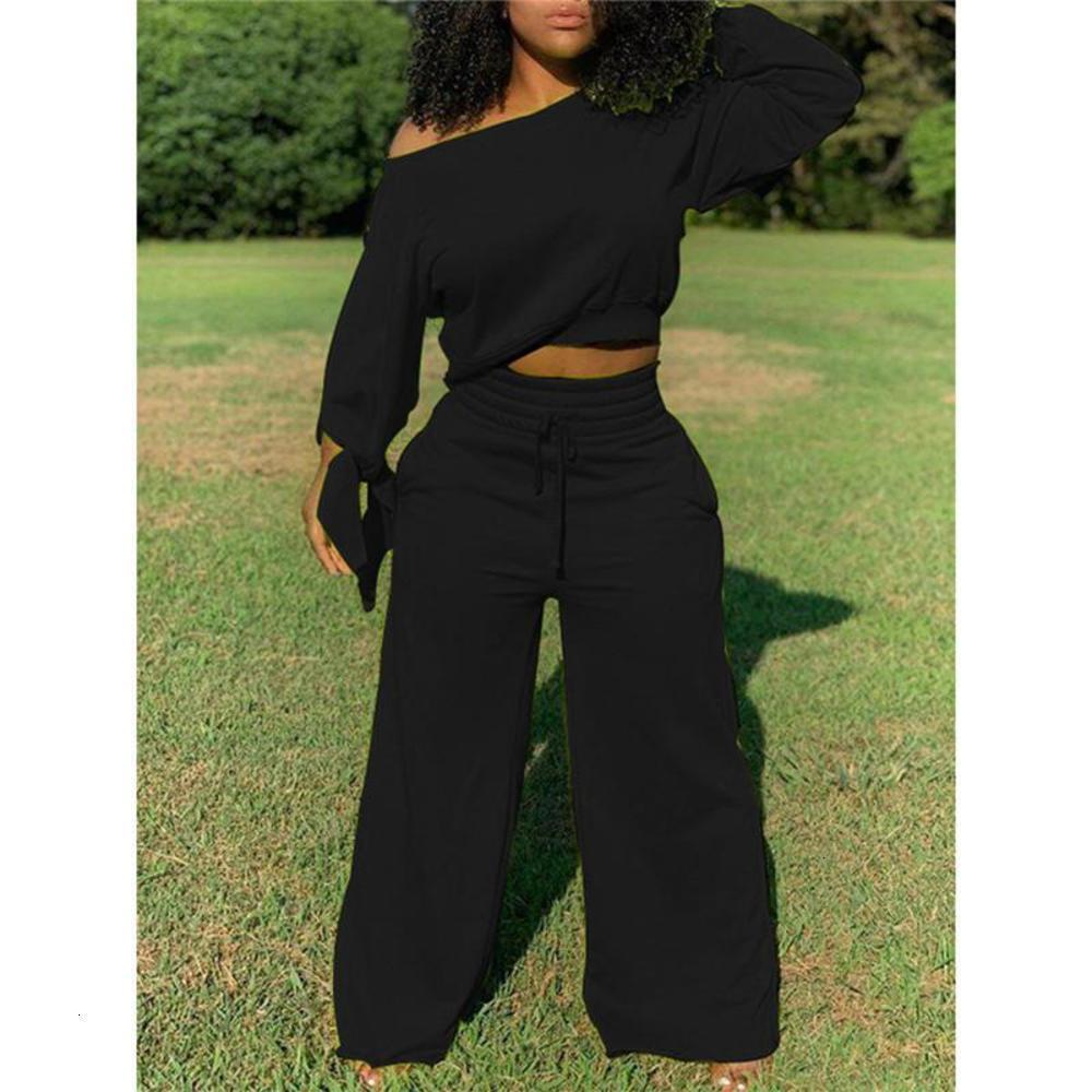 Women long sleeve suits clothing s-2XL bow hoodie wide leg pants sweatsuit solid color tracksuits fall winter jogging suits sportswear 3834