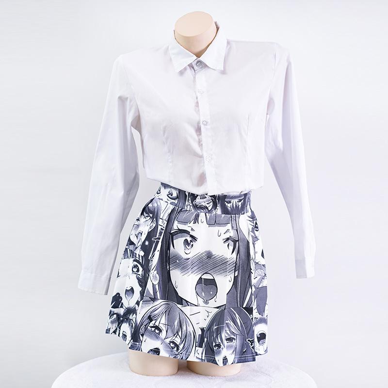 Sexy-Women-Mini-Skirt-Role-Cosplay-Vintage-Kawaii-Pleated-Tutu-Harajuku-Skirt-Korean-Japanese-School-Uniform