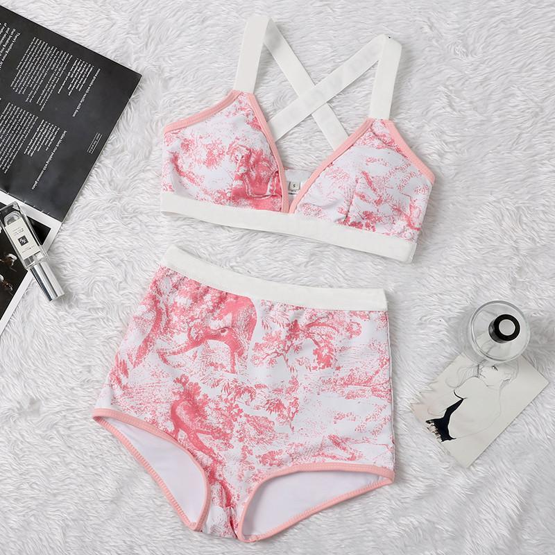 Tiger Print Bikinis Designer Padded Women's Swimsuits Outdoor Beach Tourism Vacation Sexy Bandage Push Up Swimwear