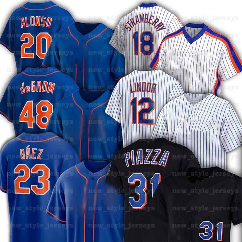 New Men York 23 Javier Baez Mets Baseball Jerseys 48 Jacob deGrom 20 Pete Alonso 16 Dwight Gooden 17 Keith Hernandez 52 Yoenis Cespedes Jeff McNeil