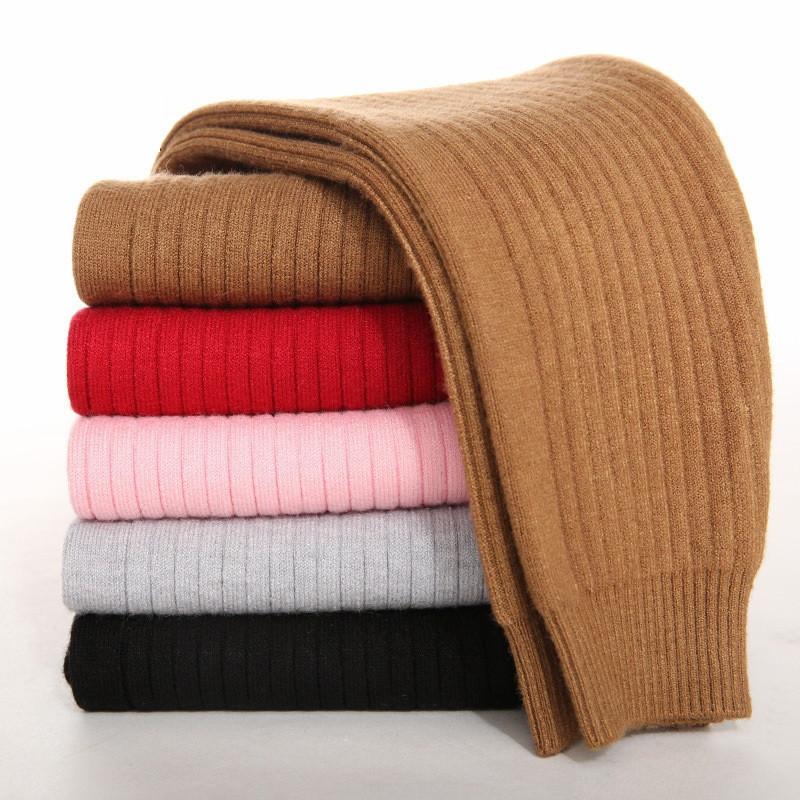 kids cashmere pants children winter knitted warm leggings girls boys keep warm pants black gray winter tights