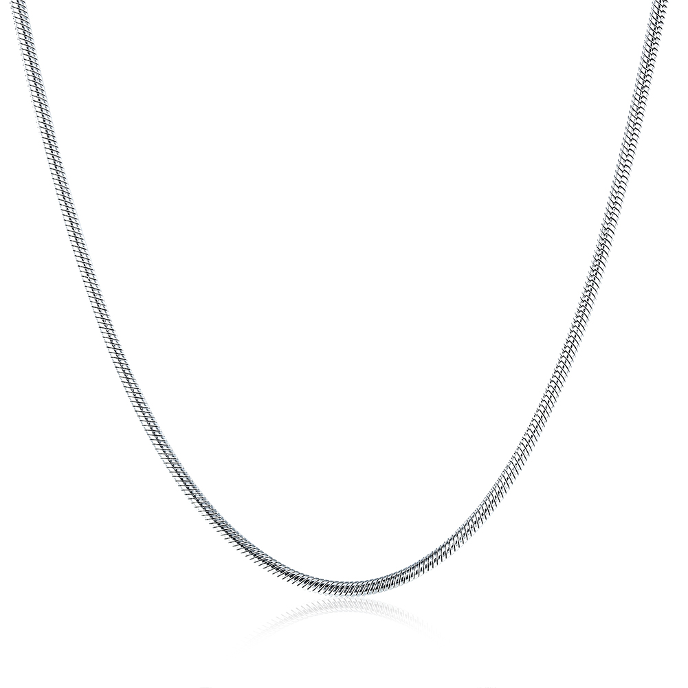 High-quality 316L stainless steel snake chain necklace 2MM 16-24 inches Fashion Jewelry Factory Outlet wjl1517