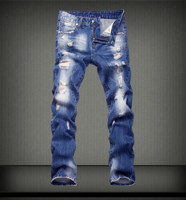 Jeans Men Male Jean Homme Mens Men'S Classic Fashions Pants Denim Biker Pant Slim Fit Baggy Straight Trousers Designer Ripped1