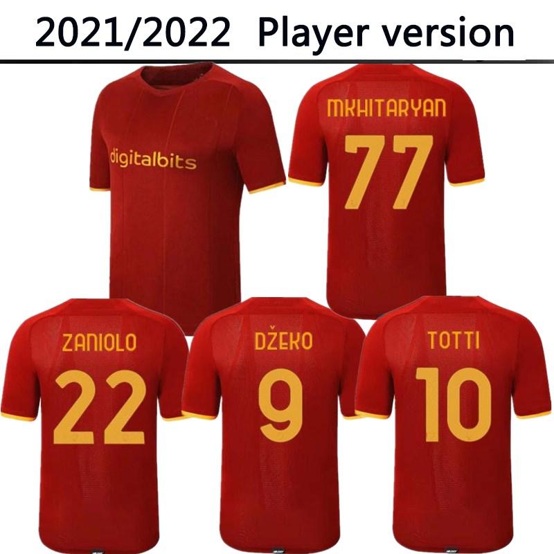 2022 ROMA Player version Soccer jersey MANCINI VERETOUT B. MAYORAL ZANIOLO DZEKO PASTORE TOTTI KLUIVERT 21 22 football shirt Men camiseta maglie da calcio maillot