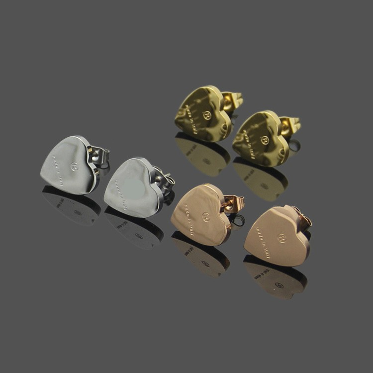 New Arrival Classic Design High Quality Earrings 3 Colors Ear Studs Stainless Steel Earrings For Women Hoop Fashion Jewelry Wholesale