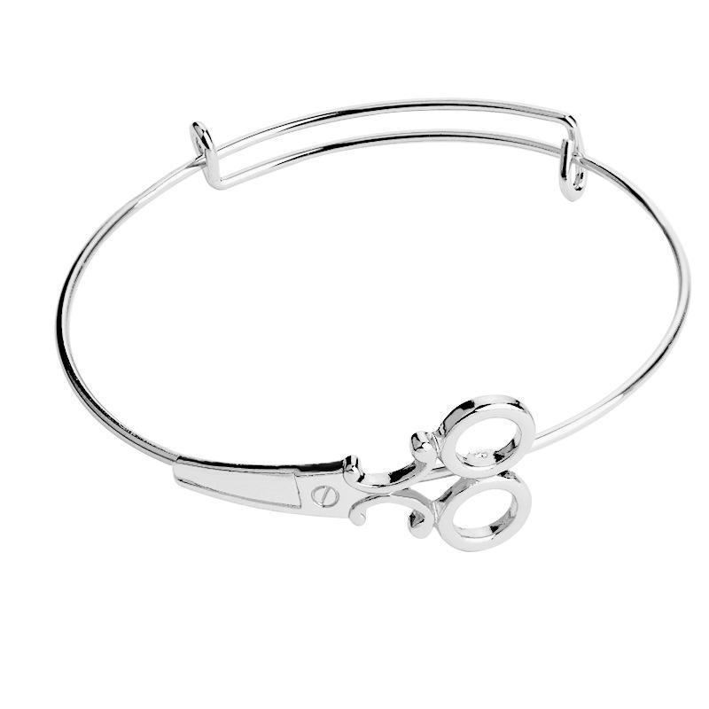 Women Newfangled Scissor Bracelets Alloy Bracelets Gold Silver Black Rose Gold Charm Unique Bangles Fashion Jewelry Gift