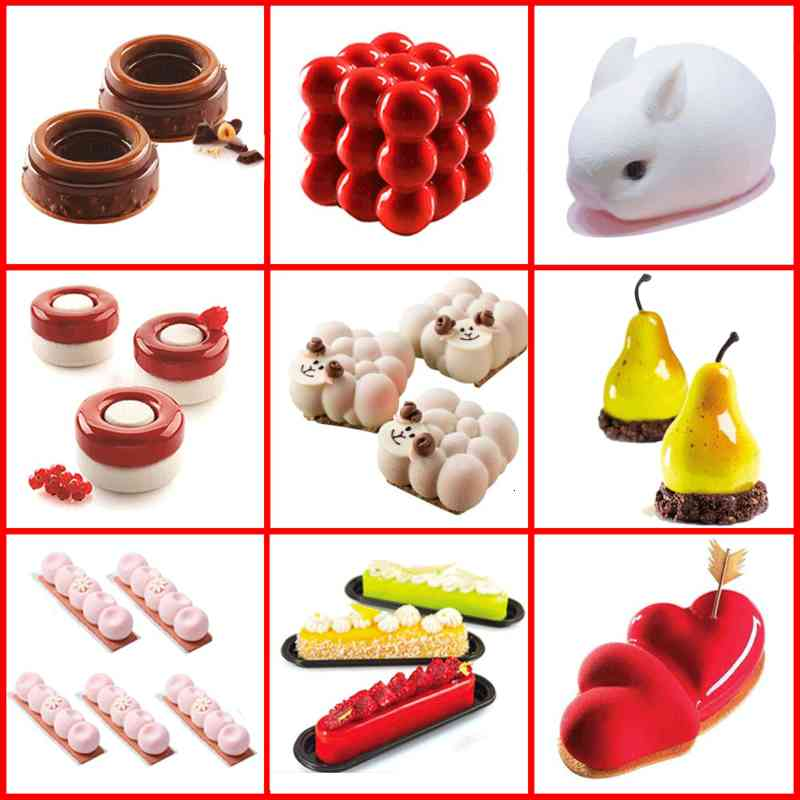 SILIKOLOVE Half Cake Molds Sphere Silicone for DIY Baking 3D Ball Deserts Round Pudding Mousse Cake Mold Kitchen Accessories Free DHL