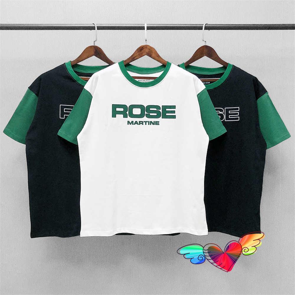 MARTINE ROSE Men Women 1:1 High Quality Tag Letter Print MARTINE ROSE Tee Oversized Tops Short Sleeve