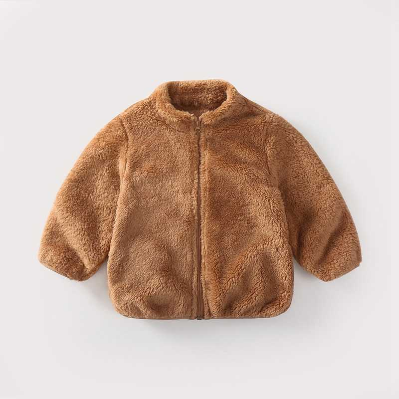 COOTELILI Fashion Fur Velvet Girls Boys Jacket Baby Girls Coat Fleece Warm Kids Jacket Snowsuit Baby Girl Hooded Outerwear (14)
