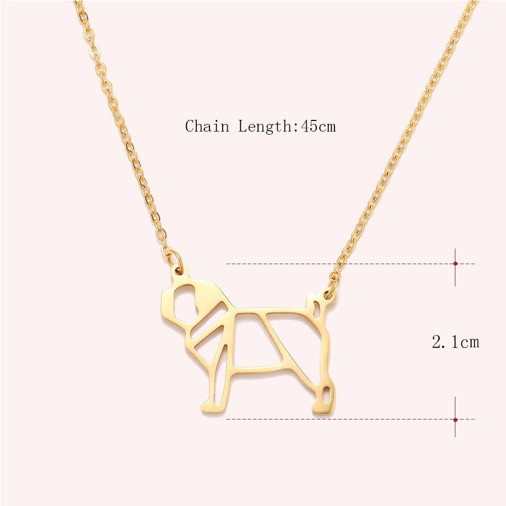 Cacana Stainless Steel Necklac Cute Dog Pet Pendant for Women Love My Pet Animal Dog Necklace Choker Ketting Jewelry Gift (3)