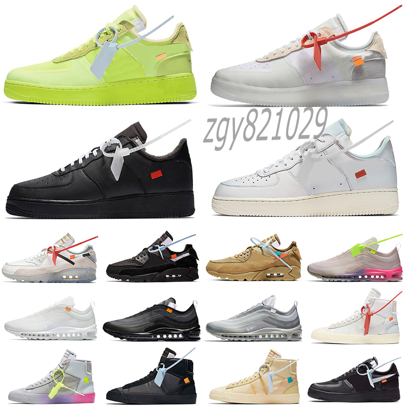 Off 90 Cushion Mens Running Shoes Prestos MAC VOLT GREEN BLUE FLY 2.0 Road Trainers women Walking Desert Ore Triple Black White Racer Sneakers 36-46 V56