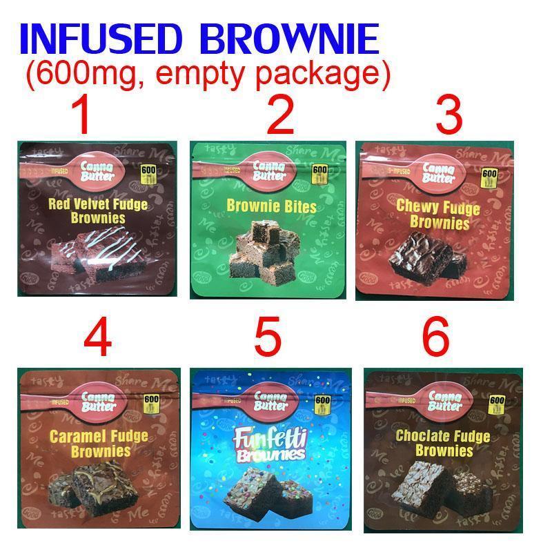 600MG INFUSED brownie bites EDIBLES PACKAGING MYLAR BAGS red velvet chewy caramel funfetti brownies chocolate