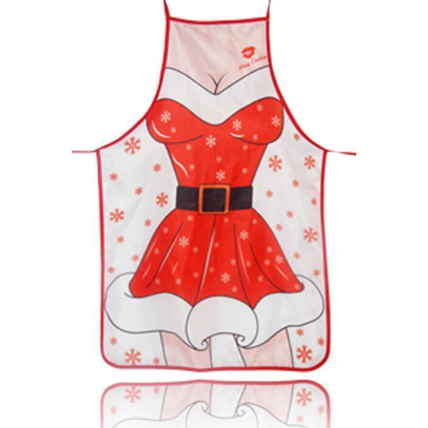 Red Christmas Aprons Adult Santa Claus Aprons Women and Men Dinner Party Decor Home Kitchen Cooking Baking Cleaning Apron 7 styles choose