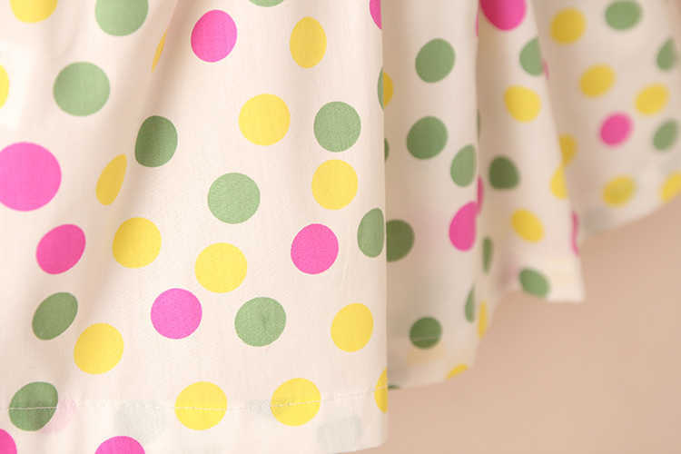 Summer 2-10 Years Beautiful Pretty Sweet Children Baby Kids Pleat Short Fly Sleeve Party Prom Polka Dot Dresses For Girls (18)