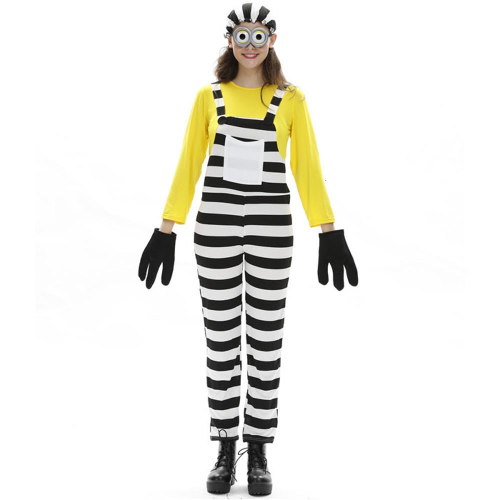 Cosplay Long Sleeve Hat Gloves Women Mens Clothing Fashion Style Cartoon Casual Apparel Halloween Designer Minion