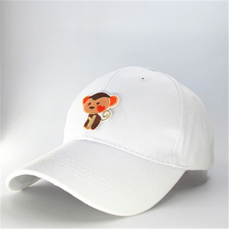 LDSLYJR Cotton Cartoon monkey embroidery Baseball Cap hip-hop cap Adjustable Snapback Hats for adult and children 199