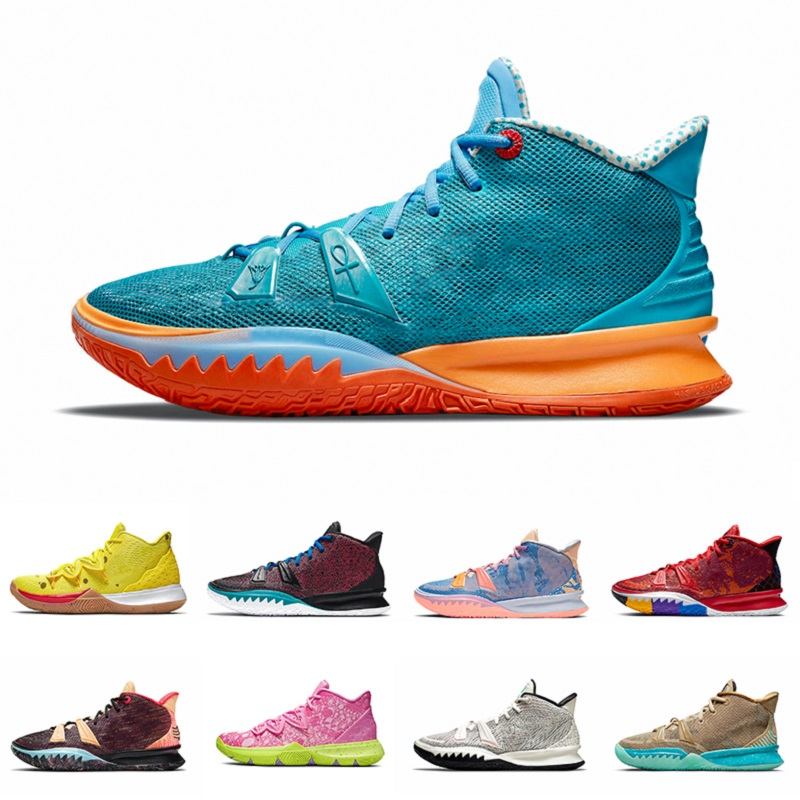 Horus White Black Gold Patrick Soundwave Kyrie 7 mens basketball shoes fashion Irving 5s sponge sandy Creator Hendrix squidward men trainers sports sneakers 40-46