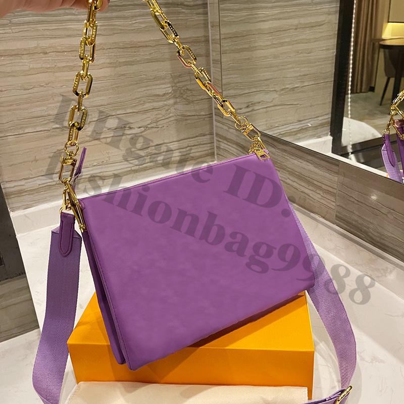 Fashion Brand Clutch PU Shoulder Hand Crossbody Bags Genuine Leather Green Purple Handbags Envelope M Size Cross Body Young Women Handbag One Side Bag Summer Shop