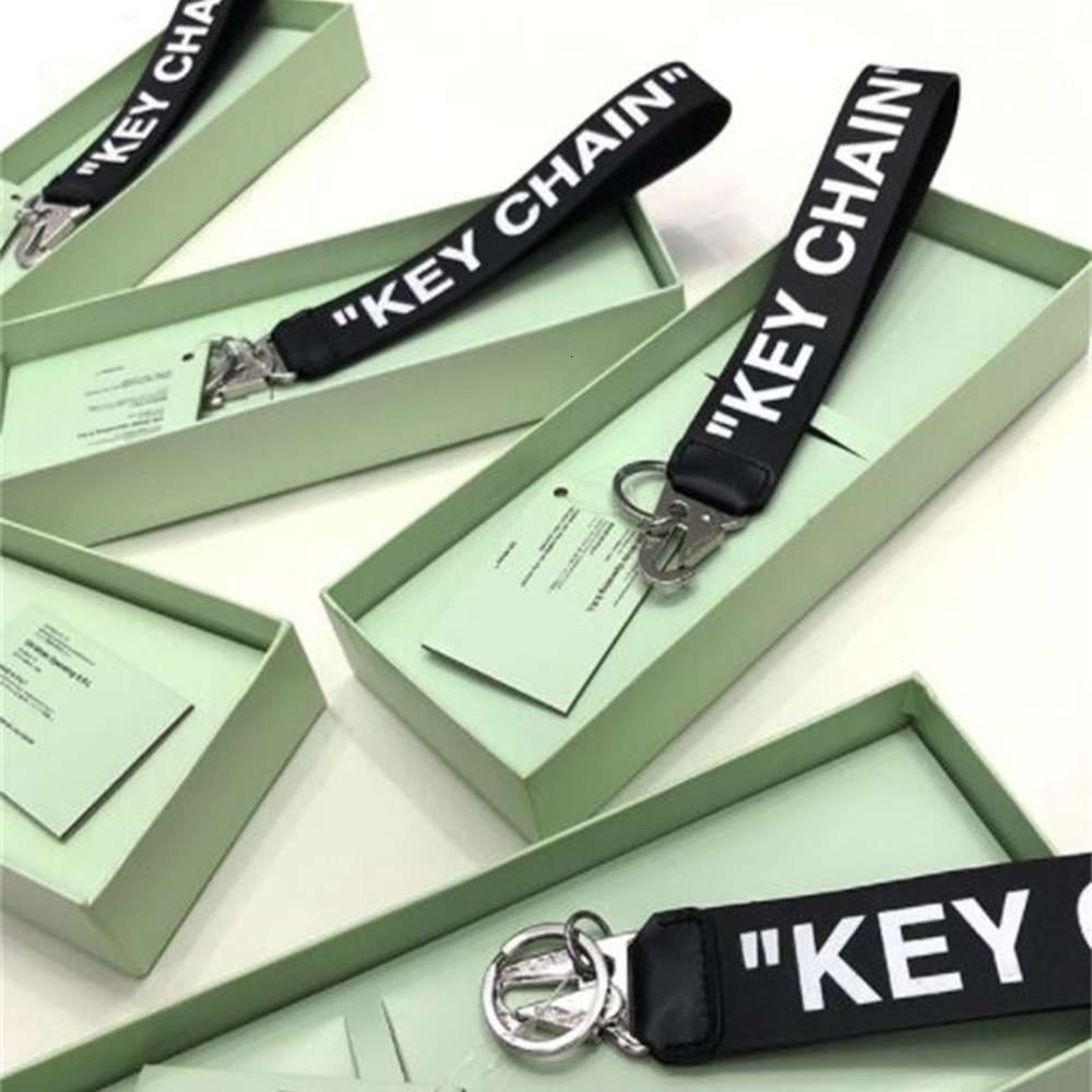 men and women Off KEY CHAIN off leather KEYCHAIN plated metal buckle decorative KEYCHAIN