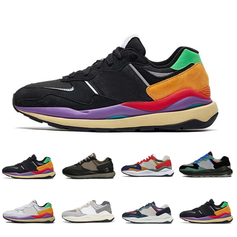 2021 Newest 5740 mens running shoes black white red blue grey rainbow fashion 5740s men women trainers spors sneakers 36-45